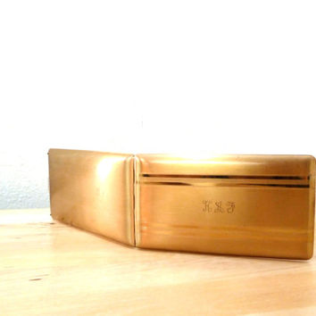 Vintage 50s Cigarette Case / Gold Money Clip / Metal Cigarette Case / Elgin American / Business Card Case