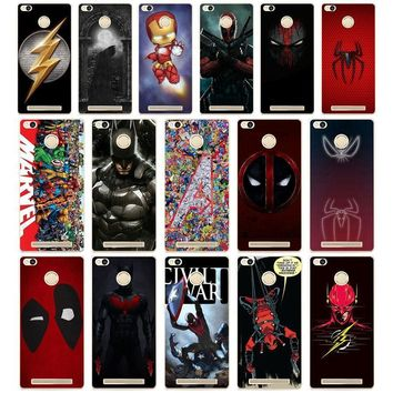 Deadpool Dead pool Taco 238DD Superman  Iron Man DC Marvel Hard Cover Case for Xiaomi Redmi 3S 3Pro 4a 5 plus Note 4 4x 5a 4pro Mi5 mi a1 AT_70_6