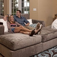 Movie Lounger with Taupe Rhinoplush Covers
