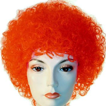 Curly Clown women's wig for Halloween