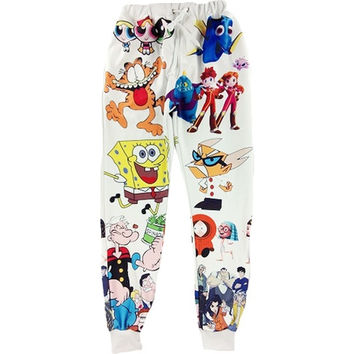 Cartoon Friend Joggers