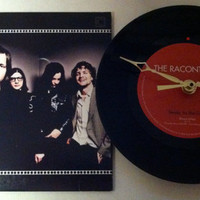 The Raconteurs Jack White / Steady As She Goes Acoustic / 45 rpm Record Clock / Recycled Vinyl & Picture Sleeve