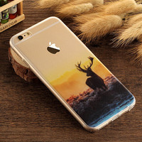 Deer Case TPU Cover for iphone 7 7 Plus & iphone 6 6s Plus & iphone se 5s + Gift Box