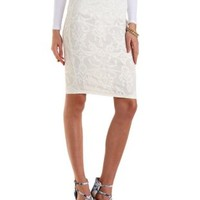 Filigree Lace Midi Skirt by Charlotte Russe