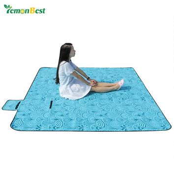 Household Portable Large Waterproof Picnic Blanket Outdoor Fleece Beach Camping Blanket Mat
