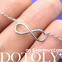 Simple Infinity Loop Outline Promise Friendship Bracelet in Sterling Silver from Dotoly Plus