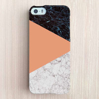 iPhone 6 Case, iPhone 6 Plus Case, iPhone 5S Case, iPhone 5 Case, iPhone 5C Case, iPhone 4S Case, iPhone 4 Case - Marble Color Block Orange