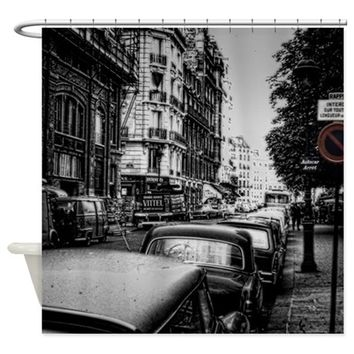 Vintage Paris Street Shower Curtain