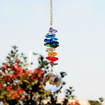 Glass Wind Chime Bell Ornament