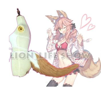 Fate/Grand Order Tamamo no Mae Fox Tail Ear Headband Head Clip Cosplay Acc Lot