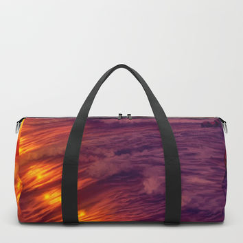 Purple sunset on Ardor planet Duffle Bag by exobiology
