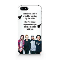 5 Seconds of summer, 5SOS  iPhone 5 5S case, iPhone 4 4S case, Free shipping M308