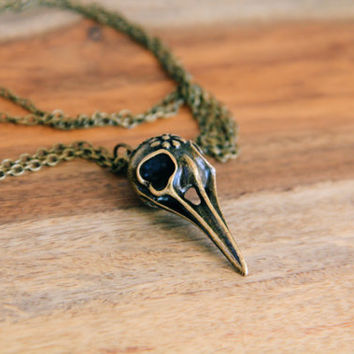 Sugar Bird Skull Necklace