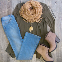 Rory Long Sleeve Top - Olive