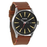 Nixon Sentry Leather Watch - Men's at CCS