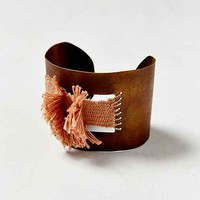 Geography 541 X Urban Renewal Large Woven Fray Cuff Bracelet- Assorted One