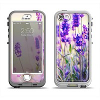The Lavender Flower Bed Apple iPhone 5-5s LifeProof Nuud Case Skin Set