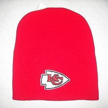 Kansas City Chiefs Red Cuffless Knit Hat