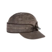 Stormy Kromer Waxed Cotton Cap Dark Oak