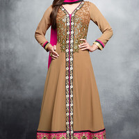 Beige Georgette Anarkali Suit