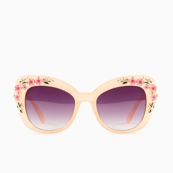ShopSosie Style : Flower Power Sunglasses in Blush