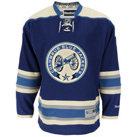 Men's Reebok Royal/Cream Columbus Blue Jackets Premier Alternate Jersey