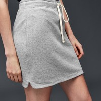 French terry tie skirt