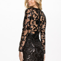 Brocade Sequin Bodycon Dress, Club L