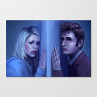 Doctor Who - The Doctor and Rose Canvas Print by SteveSketches