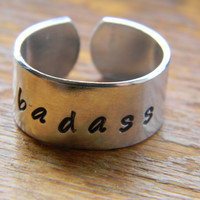 badass aluminum 3/8 inch ring by LindaMunequita on Etsy