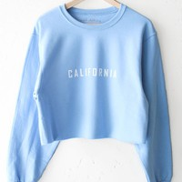California Oversized Cropped Sweatshirt