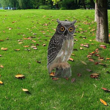 40x19cm Outdoor Lifelike Hunting Decoys Plastic Fake Owl Garden Decoration Ornaments For Hunting Decoy Scarer Scarecrow