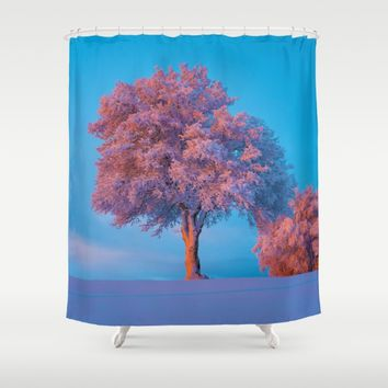 Stay A While Shower Curtain by Gallery One