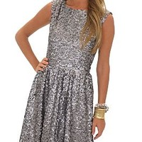 Silver Screen Dress :: NEW ARRIVALS :: The Blue Door Boutique