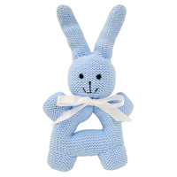 Bunny Rattle with Handle, Blue, Children's Toys