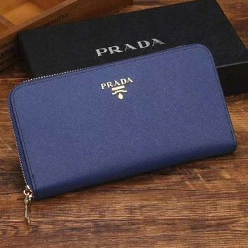 PEAPJ3V Prada Women Fashion Leather Zipper Wallet Purse-22