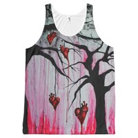 High and Dry Hearts Trees Goth Love Original Art All-Over Print Tank Top
