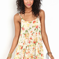 FLORAL TIERED CAMI DRESS