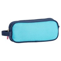 Gear-Up Bright Blue Colorblock Pencil Case