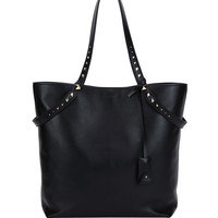 Valentino Lovestud Leather Tote Bag