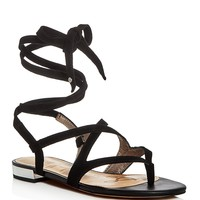 Sam EdelmanDavina Suede Ankle Wrap Sandals