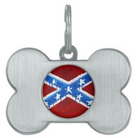 Rebel Flag Pet Name Tag from Zazzle.com