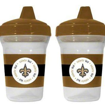 New Orleans Saints NFL 5 oz Plastic Sippy Cups (Set of 2) BPA Free