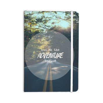 "Ann Barnes ""The Adventure Begins"" Typography Nature Everything Notebook"