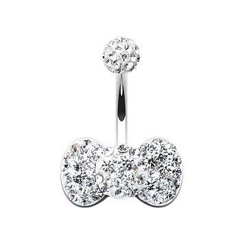 Classic Bow-Tie Multi-Sprinkle Dot Belly Button Ring