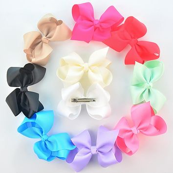 "4.3"" baby girls big hair bow barrettes toddler birthday hair accessories bowknot Fashion Boutique Bow With Clip Children Hairpin"