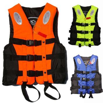 LONMF Outdoor Life Vest for fishing life vest Life Jacket raft swim vest inflatable life vest adult with whistle