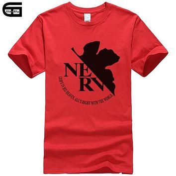 Anime Cartoon EVA Neon Genesis Evangelion NERV cotton Mans clothing Men T Shirt Manga Tshirt casual t-shirt tee T164