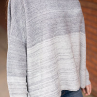 Lesson In Love Sweater, Gray
