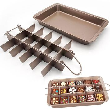 Brooklyn Brownie Copper Nonstick Baking Pan with Built-In Slicer